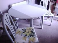 Upcycled shabby chic table and chairs kath kidson style