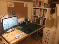 IKEA TORNLIDEN/ ADILS Desk, IKEA KALLAX Shelving unit, IKEA ALEX Drawer
