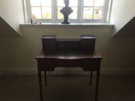 Antique Victorian Inlaid Mahogany Bonheur Du Jour ladies Desk
