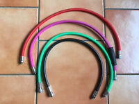 3 Miflex coloured hoses (for BCD, Drysuit & Reg) & 1 standard Drysuit hose