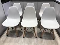 x6 Tower Chair Replica Eames White and Beech