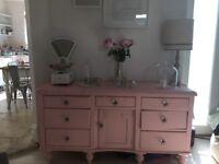 Gorgeous Pink Welsh dresser/ sideboard/ antique
