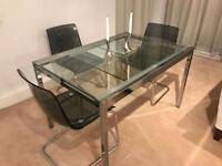 Ikea glass extending dining table and chairs set