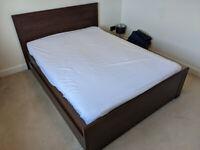 Ikea Brusali Double Bed, Clean Mattress & Mattress Protector