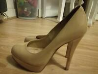 Office nude heels size 6