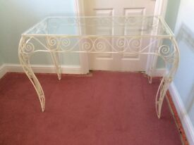 Glass topped tables for sale