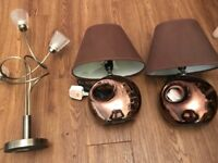 Three lamps, table lamps