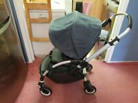Bugaboo bee 107 denim grey with footmuff, raincover.Clean. Delivery