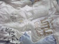 Baby boy vest sleep suit bundle new born - 1 month