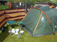 Regatta hydrafort 4 person tent & extras