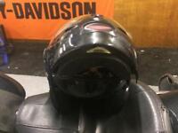 Flip up motorbike helmet