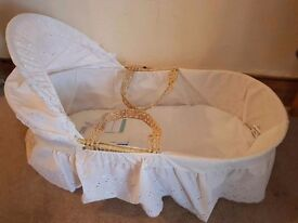 Moses Basket, never used with tags.