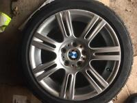 "Bmw 17"" M Sport Alloys With Good Tyres"