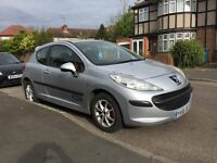 Peugeot 207 Sport . 3 door , 1.4 petrol Cheap Insurance and Tax