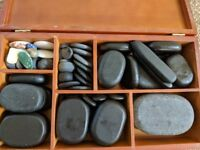 Hot Stones and Heater for Hot Stone Massage