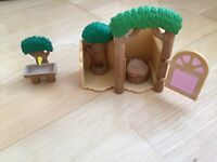 Sylvanian family camping set and outdoor toilet