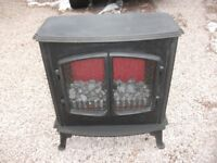 REAL COAL EFFECT CAST IRON FREE STANDING ELECTRIC FIRE