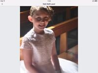 Designer Little people communion dress immaculate age 10
