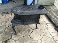 Wood burning stove, French Original