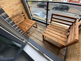 Garden single corner chair x2