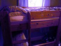 High sleeper single bed