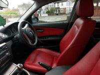 2009 RED LEATHER BMW 118D SE 1 Series 87K Miles Manual 5dr 17in alloys - Loads of options - low tax