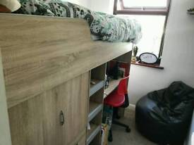Single cabin bed excellent condition