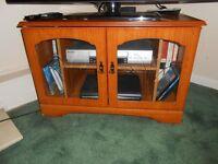 Modern Corner Teak TV Cabinet