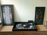 Home Casino Wooden Set Roulette, Poker, Baccarat, Craps, Dice Game, Blackjack