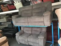 New/Ex Display Kinman Grey 3 + 2 Seater Electric Recliner Sofa