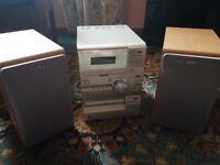 Sony Micro HiFi Component System - plays CD & Cassette tapes, twin speakers included