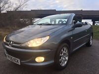 2005 IMMACULATE CONDITION THROUGHOUT PEUGEOT 206 CC ZEST,ONLY 49K GENUINE MILES,MOT DEC 2017,