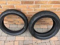 Bridgestone Battlax motorcycle tyres 190 55 17 & 120 70 17
