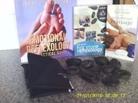 Hot Stone Therapy ,10 stones +DVD and instruction books