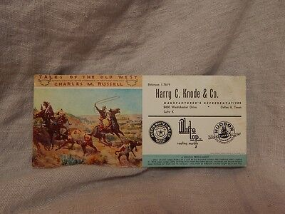 "Vintage Advertising Tract ""Tales of the Old West"" by Charles Russell"