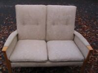 Parker Knoll sofa for two, retro 2 seater sofa high back, model PK 988-1126, high quality, 1960s.