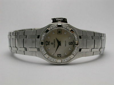 Concord Stainless Steel Wrist Watch - CONCORD SARATOGA STAINLESS STEEL MOP DIAMOND BEZEL & MARKERS LADIES WATCH