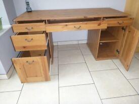 IKEA ALVE Antique Stained Pine desk