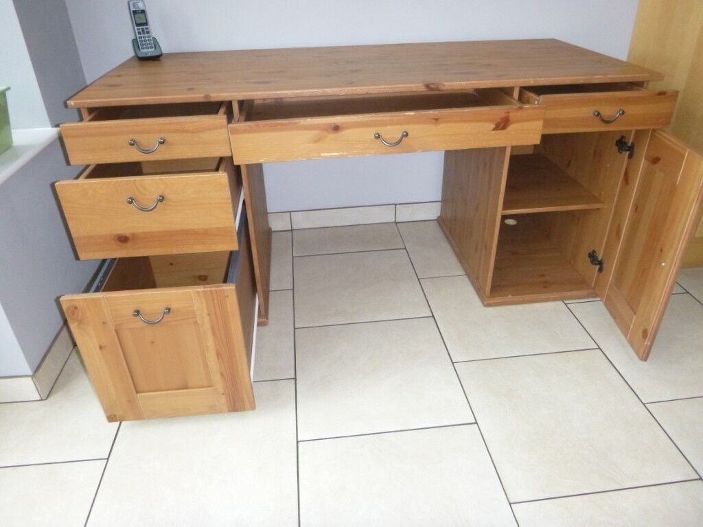 Cool Ikea Alve Antique Stained Pine Desk In Kimberley Nottinghamshire Gumtree Download Free Architecture Designs Embacsunscenecom