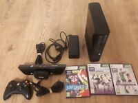 Xbox 360 with Kinect +3 Kinect Games