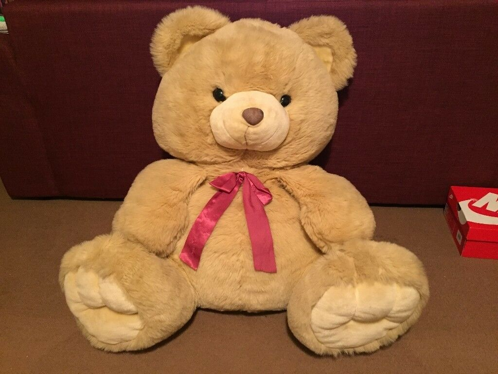 Giant Soft N Stuffed Teddy Bear Nearly 1m Tall Great For Valentine S