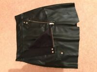 River Island Leather Skirt Size 8