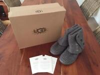 UGG Cardi Knitted Boot. Size 3