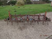 Ransomes 10ft Mounted Spring Tines Tine Triple K Harrow Cultivator Plough Tractor Farm
