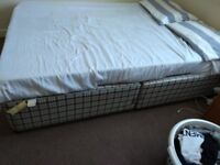 Memory foam double mattress and bed
