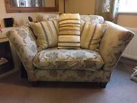 Silcox Son & wicks love chair and cushions