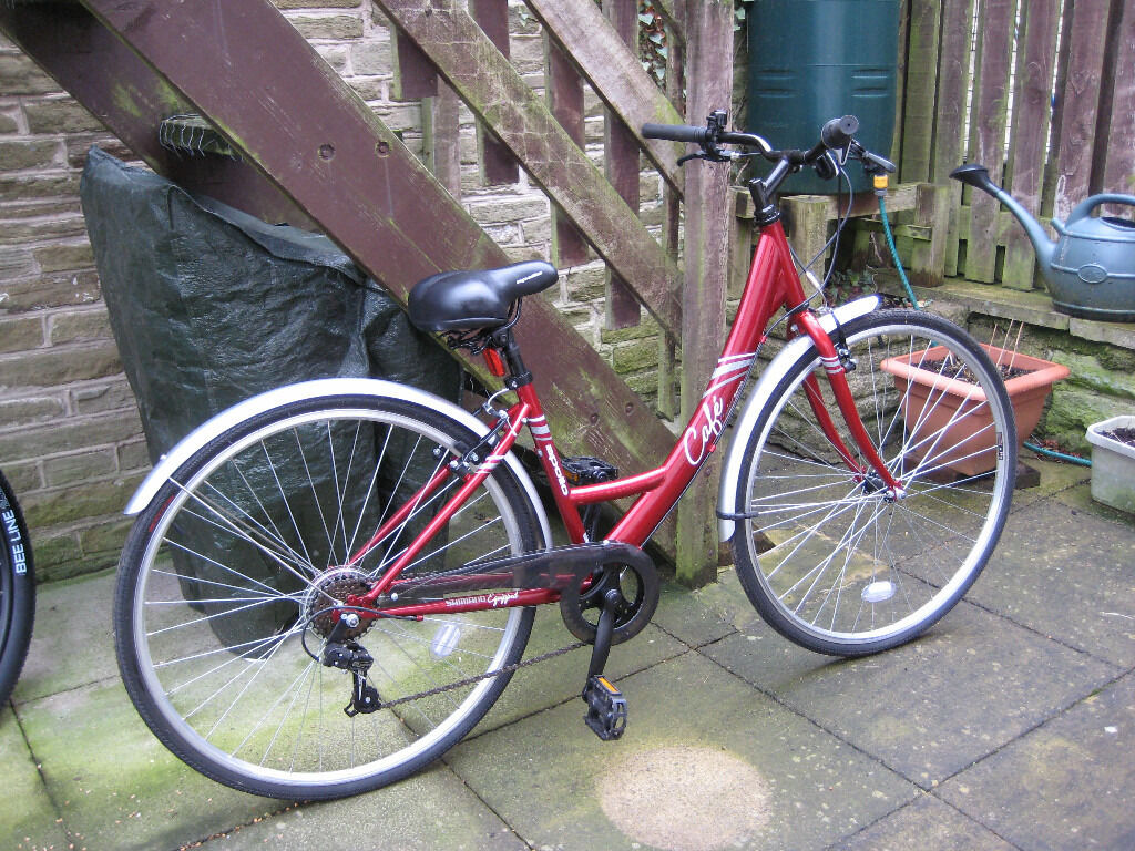 Apollo Cafe Womens Hybrid Bike 16 Dark Red In Honley West