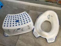 Frozen potty training seat and step