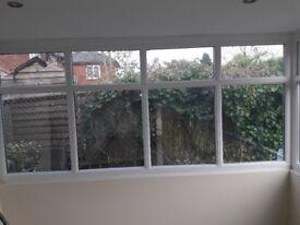 Conservatory patio door and window