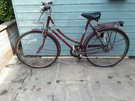 1970s 1980s Womens Vintage Cameo Raleigh Bicycle Bike